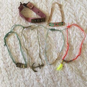 Seven (7) brand new statement bracelet. Never worn